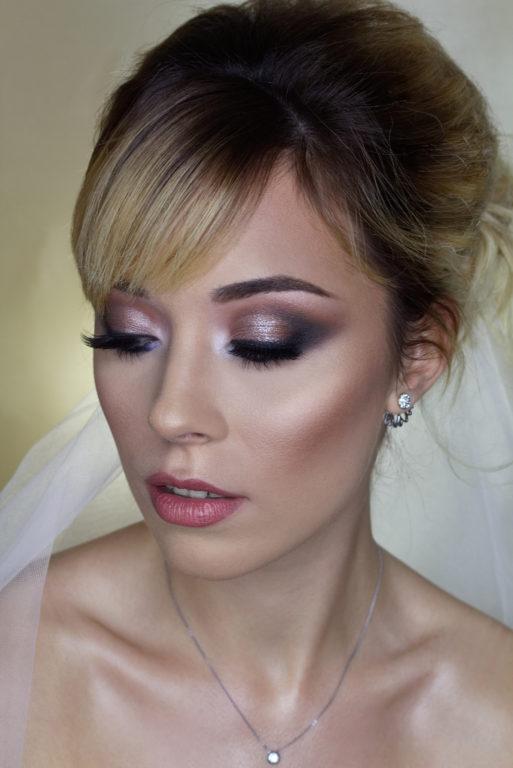 russian colorful eye makeup - bridal makeup - glamour makeup