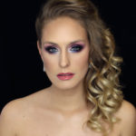 Purple eye makeup for blue eyes - bridal makeup