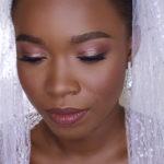 Pink makeup for dark skin bridal